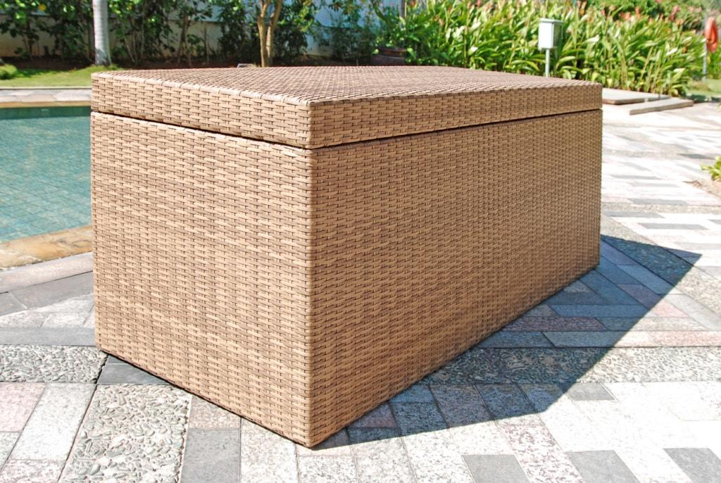 Auflagenbox aus Polyrattan