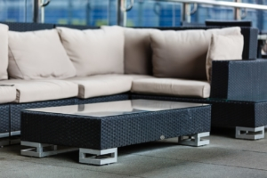 Loungetisch aus Polyrattan