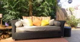 Rattan Gartensofa
