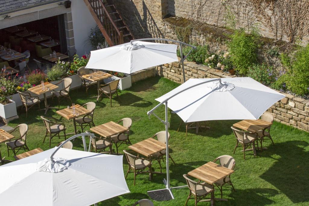 Sonnenschirm in der Gastronomie